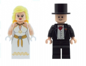 Wedding Bride & Groom Version B - Custom Designed Minifigures